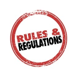 Rules and regulations stamp